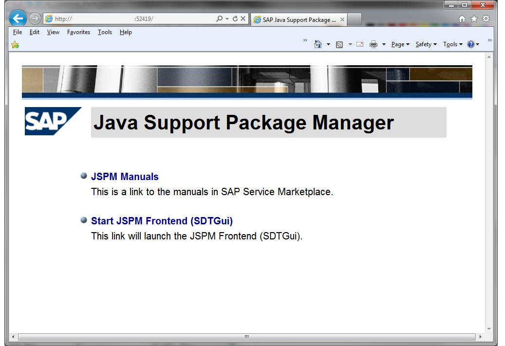 Starting JSPM in remote ui mode
