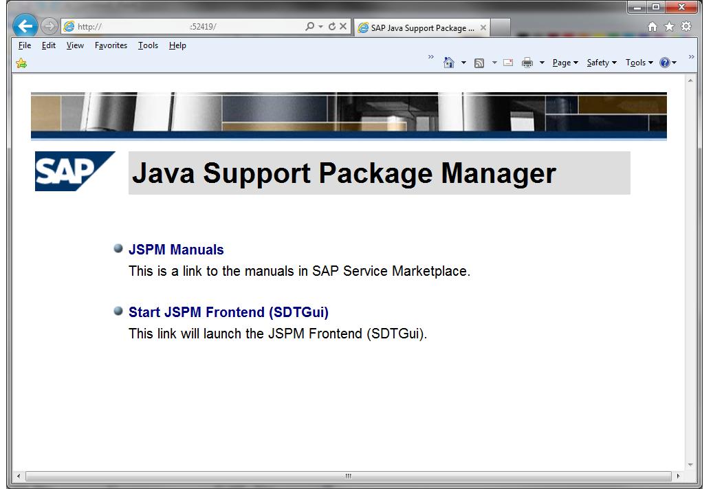 Starting JSPM in remote ui mode