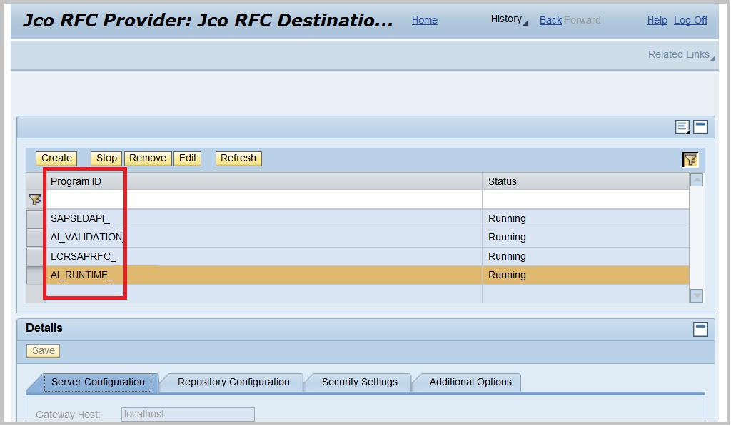 SAP PI NWA JCO RFC PROVIDER