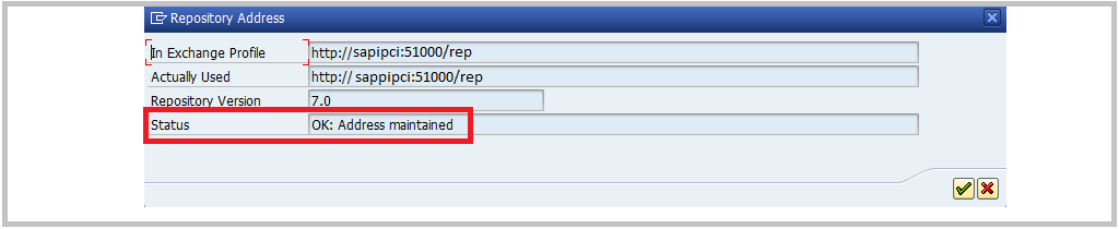SAP PI SPROX_CHECK_IFR_ADDRESS