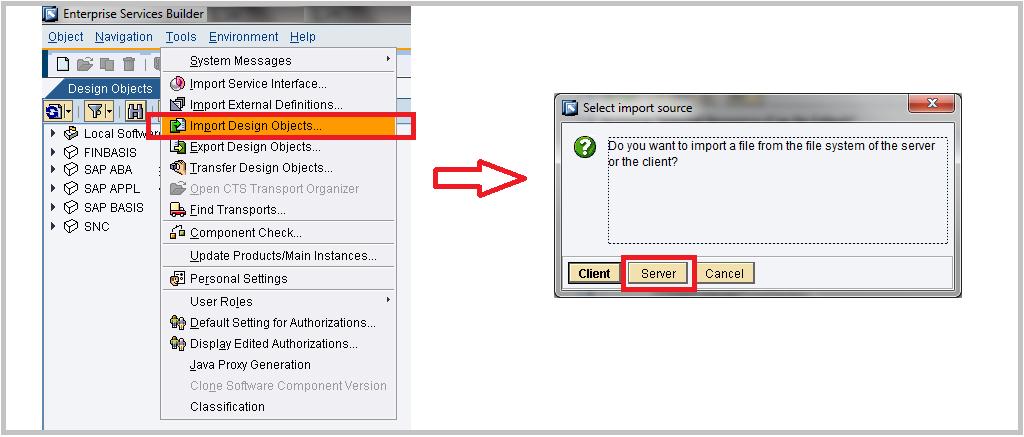 Importing ESR content