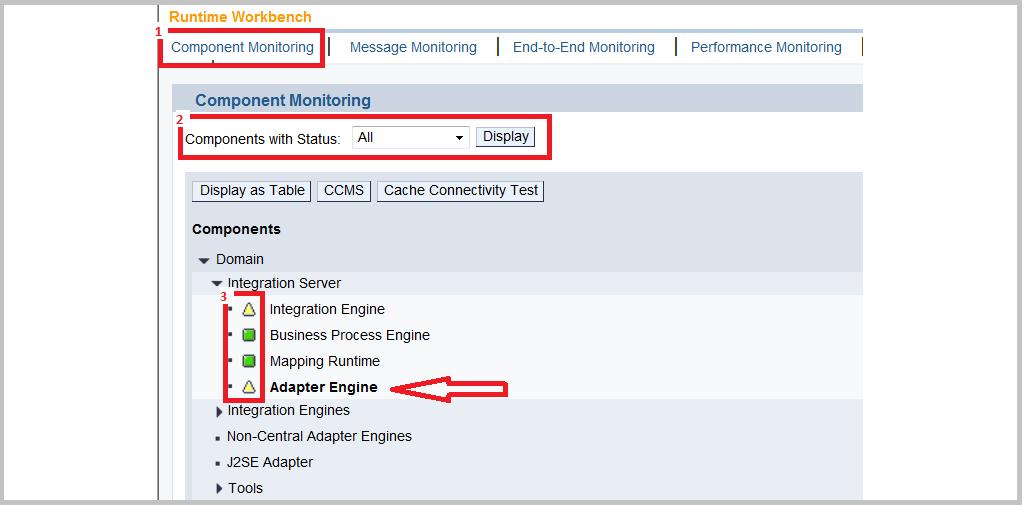 SAP PI RWB Component Monitoring