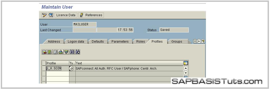SMTP Service user