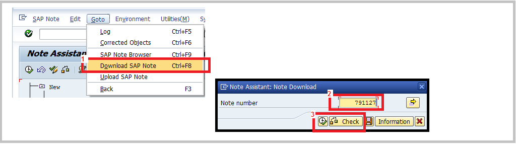 SNOTE Download SAP Note