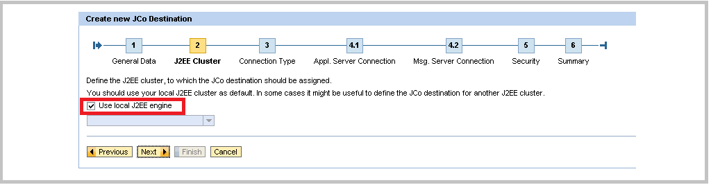 SAP Java Creating JCo Step 2