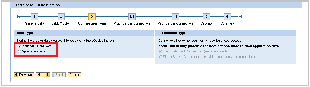 SAP Java Creating JCo Step 3