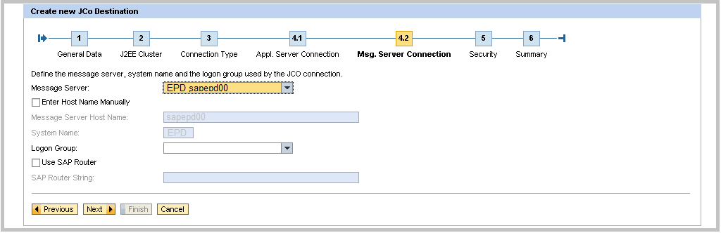SAP Java JCo creation Step 4