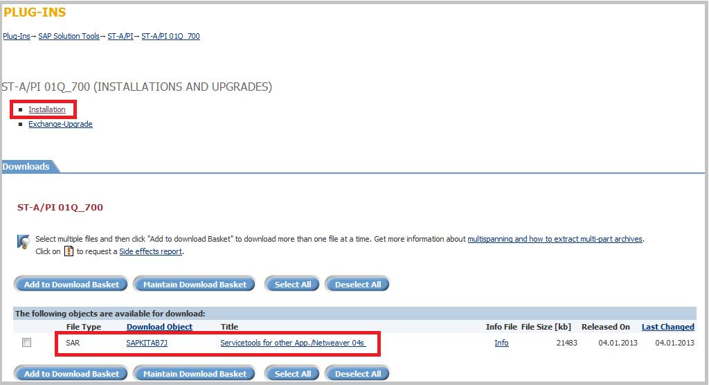 SAP Download ST-A_PI