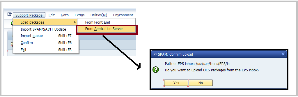 Load packages from SAP Application server
