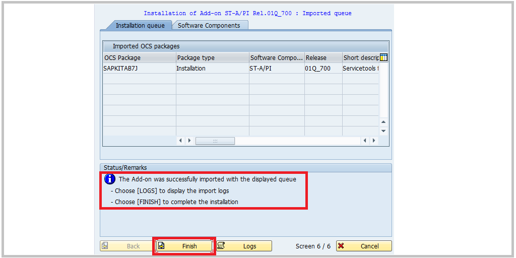 SAP SAINT add-on 8