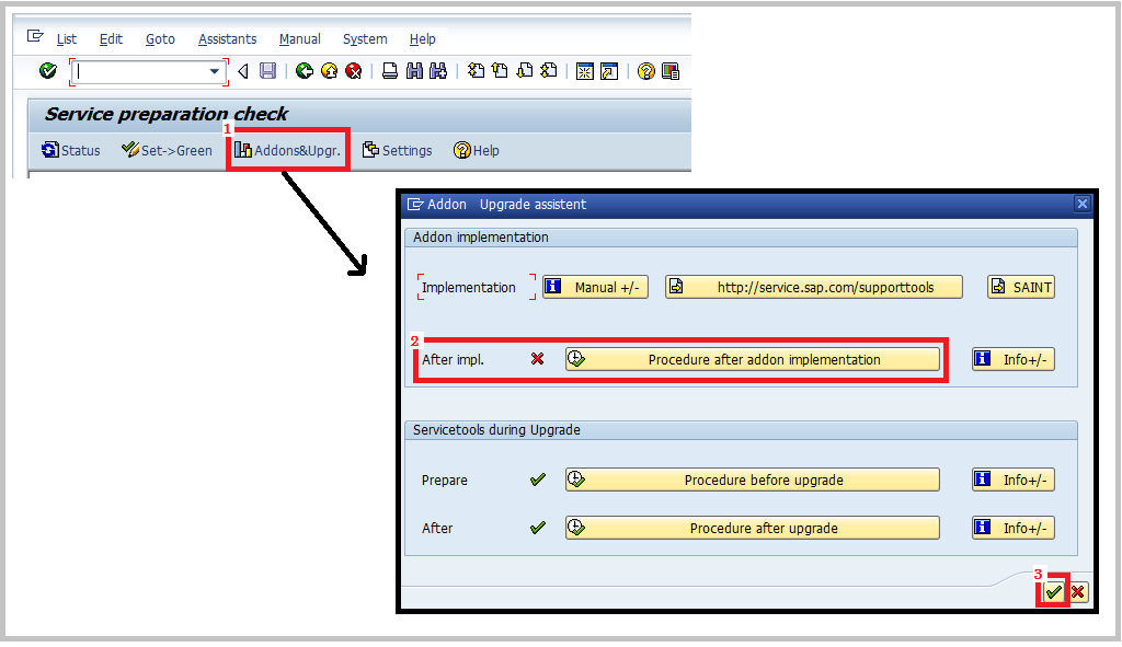 SAP RTCCTOOL after add-on upgrade 2