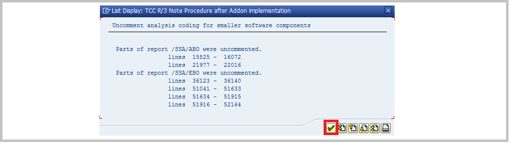 RTCCTOOL procedure after addon implementation