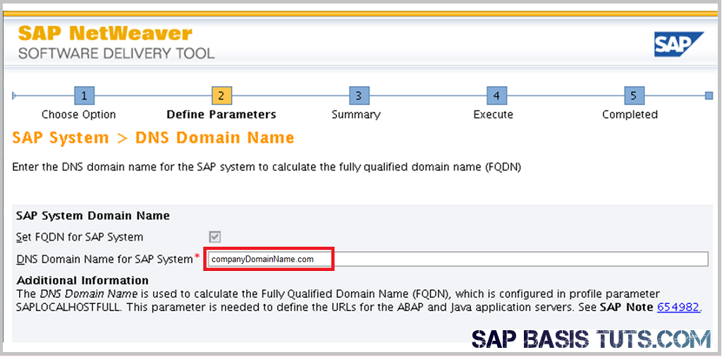 SAP Switch tool Screen 2