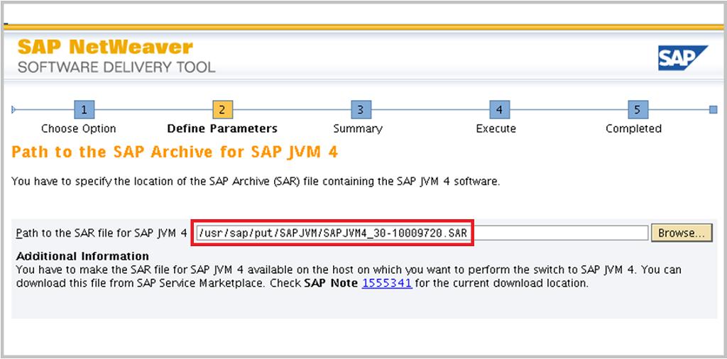 SAP Switch tool Screen 3