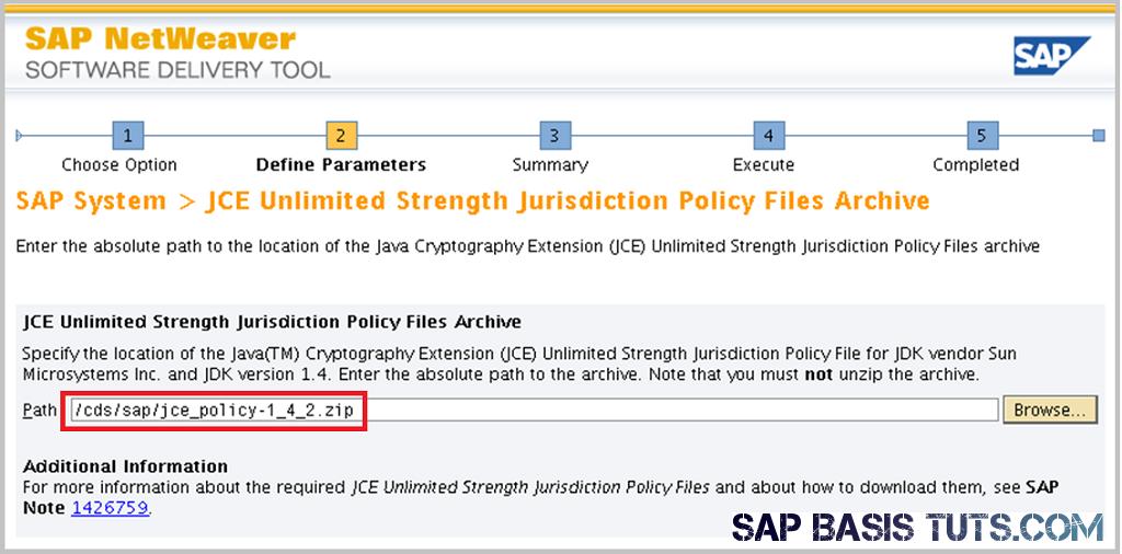 SAP Switch tool Screen 4