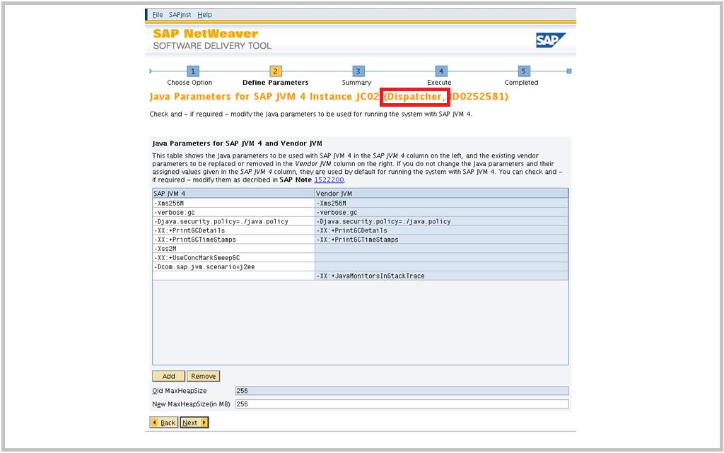SAP Switch tool Screen 6