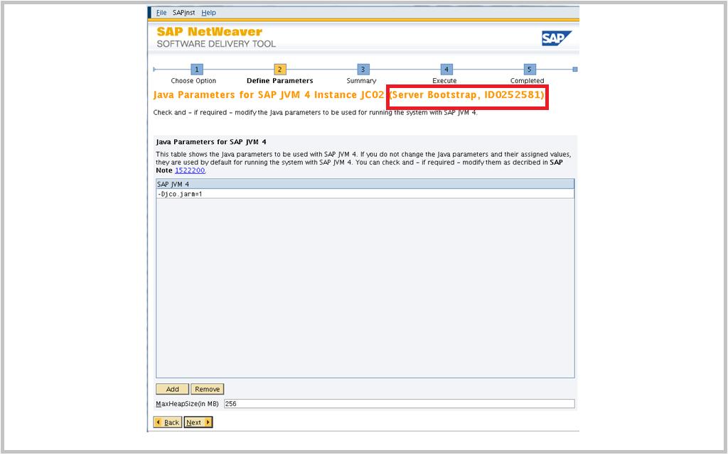SAP Switch tool Screen 7