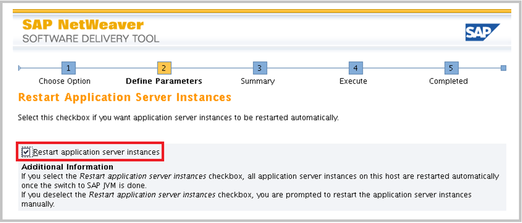 SAP Switch tool Screen 19