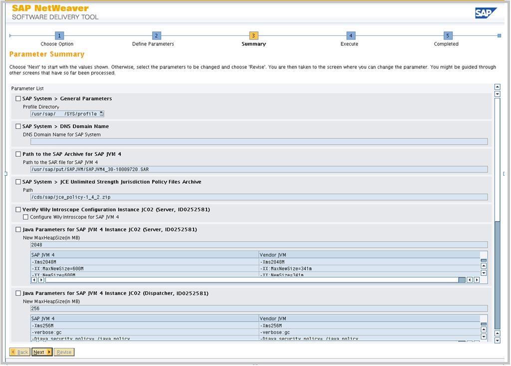 SAP JVM Switch tool parameter verification