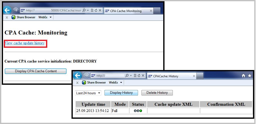 SAP PI CPA Cache update History