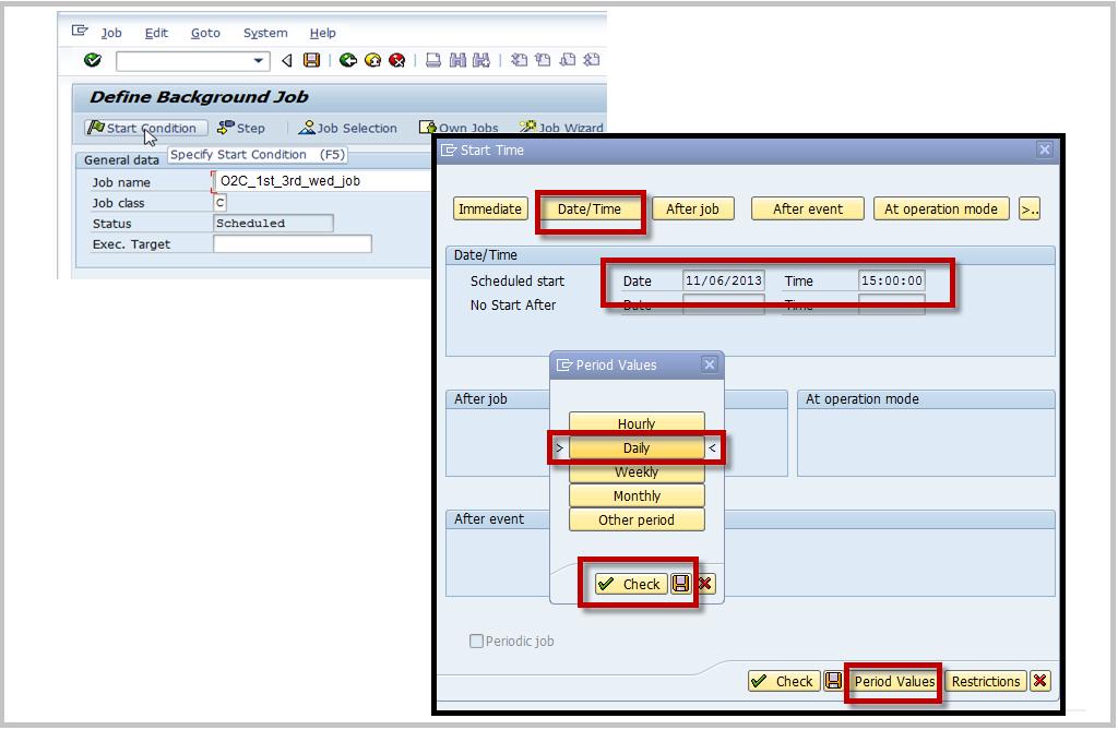 SAP SM36 Create Job