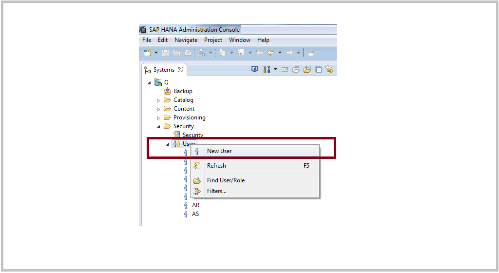 Creating SAP HANA user  - SAP BASIS Tuts