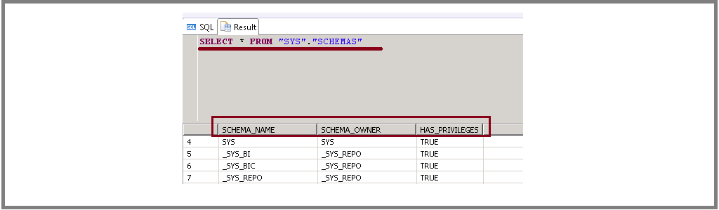 SAP HANA SCHEMA OWNER