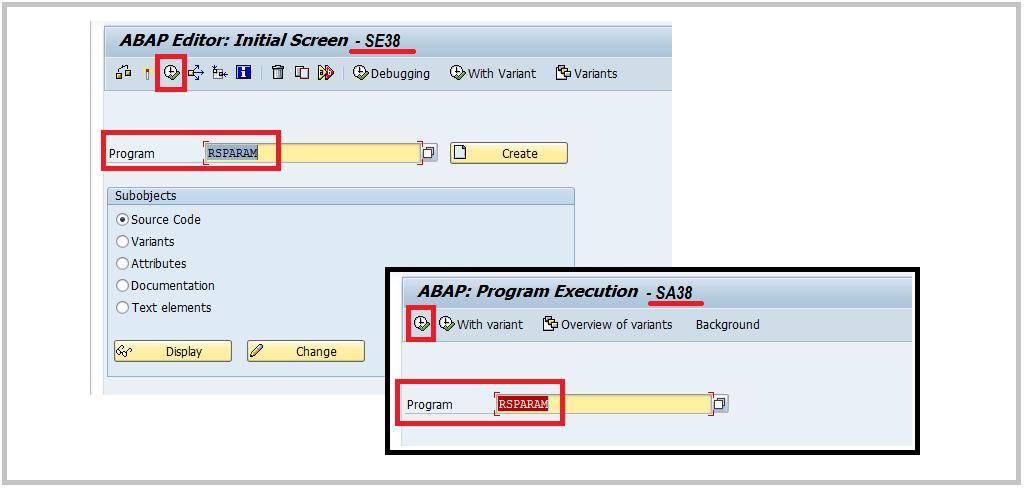 SAP RSPARAM execution SA38